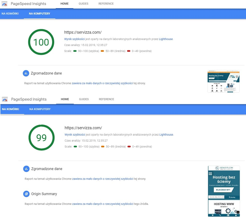 pagespeed-servizza
