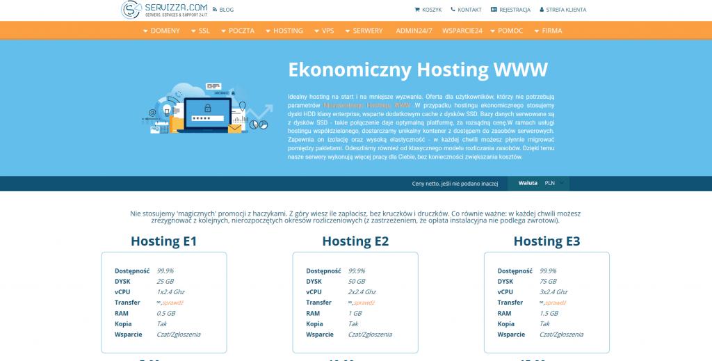 Ekonomiczny Hosting WWW