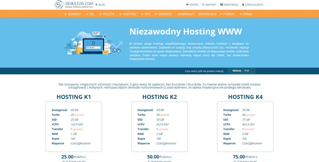 Niezawodny hosting WWW